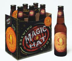 """Magic Hat #9 Brewery Beer Glass 5 3//4/"""" tall Near Excellent Condition 2 Avail"""